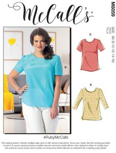 McCALL´s kaava M8059 Tops and Tunics with Cup Sizes