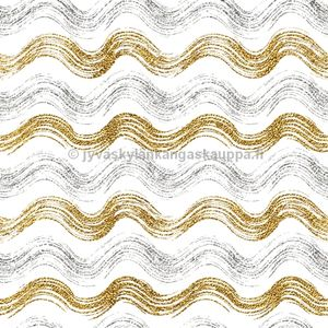 Digital jersey Gold and Silver Waves