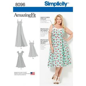 Simplicity Pattern S8096 Amazing Fit Plus Size Dresses