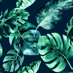 Digital jersey Tropical Leaves (a. 1,1m cut, pre-washed)