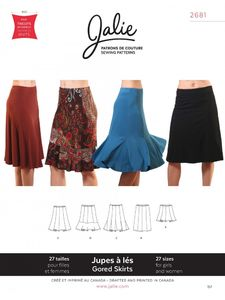 Jalie kaava 2681 Gored Skirts