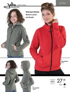 Jalie 2795 Zip-front jacket and hoodie