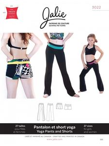 Jalie 3022 Yoga pants and shorts
