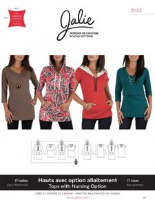 Jalie 3132 Nursing and regular tees and tunics