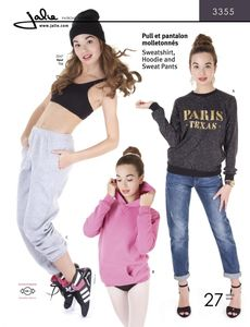 Jalie 3355 Sweatshirt, hoodie and sweatpants
