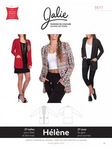Jalie 3677 Shawl collar cardigan