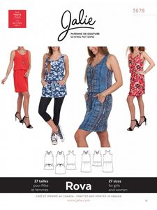 Jalie 3678 Rova tank dress and tunic