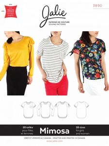 Jalie 3890 MIMOSA Scoopneck T-shirts