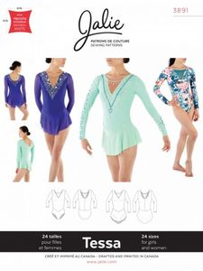 Jalie 3891 TESSA Long-Sleeve Dress and Leotard