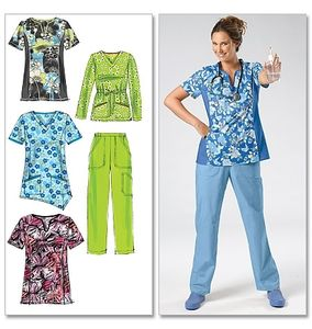 McCall's M6473 Scrub tops and pants