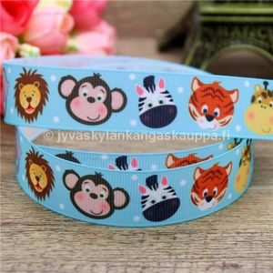 Ribbon Small Animals (blue)(50cm cut)