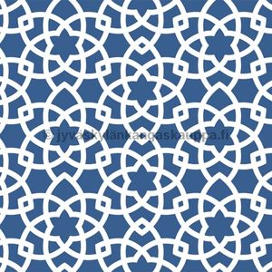 PUL fabric Blue Star Flower