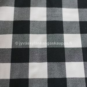 Cotton flannel black-white Checkered