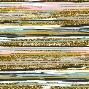 Digital jersey Pastel Glitter Stripes