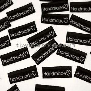 Knitted lable Handmade ❤ BLACK (sewn in the seam)