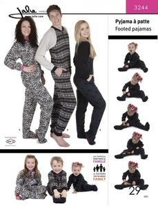 Jalie 3244 Footed pajamas for men, women and children