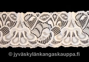 Elastic lace off white