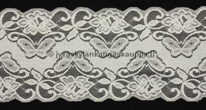 Stretch lace natural white 15,2cm