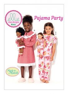 "Kwik SEW Ellie mae Design K0227 Girls' and 18"" Doll Top, Dress and Pants"