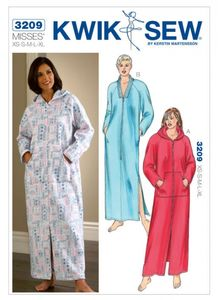 Kwik SEW K3209 Raglan sleeve robes