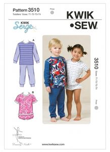 Kwik SEW K3510 Toddlers' basic shirt and pants