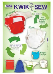 Kwik SEW K3690 Diaper, cover, insert and bags