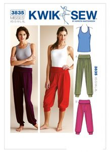 Kwik SEW K3835 Yoga pants and top