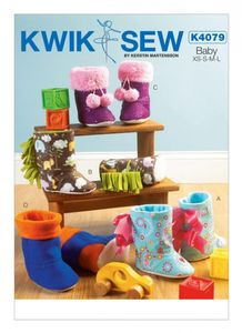 Kwik SEW K4079 Toddlers' bootie slippers