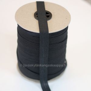 Fold over elastic black 15mm