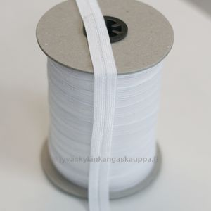 Fold over elastic white 15mm
