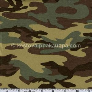 PUL LAMINATED JERSEY camo olive