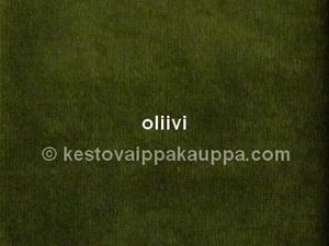 PUL LAMINATED VELOUR olive (a. 1m cut)
