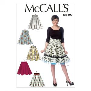 McCall's M7197 Flared Skirts