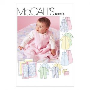 McCall's M7219 Infants buntings, jumpsuits, beanies and blanket