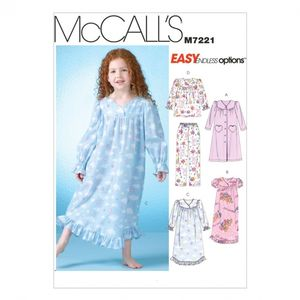 McCall's M7221 Children's/girls' robe, gowns, top and pants