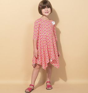 McCall's M7309 Children's/girls' handkerchief-hem dresses