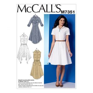McCall's M7351 Shirtdresses with pockets