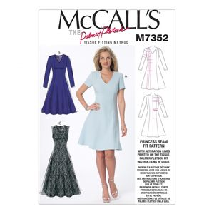 McCall's M7352 Fit and flare dresses