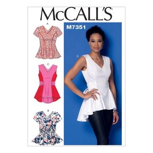 McCall's M7356 V-neck fit and flare or godet tops