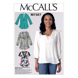 McCall's M7357 Banded tops with yoke