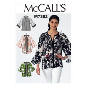 McCall's M7362 Raglan sleeve tops and jackets
