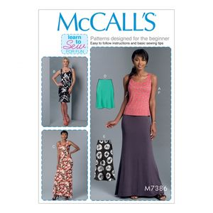 McCall's M7386 Knit tank top, skirt and dresses