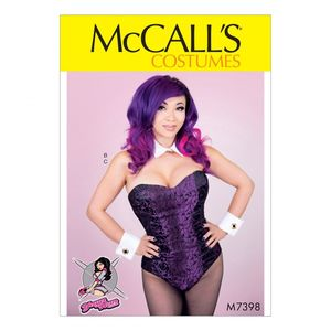 McCall's M7398 Corseted bodysuit, collar, cuffs and tail