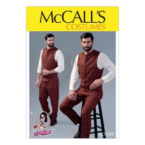 McCall's M7399 Single or double-breasted vests and flat-front pants