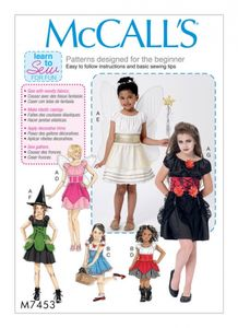 McCall's M7453 Children's/girls fairy, witch, angel and character costumes