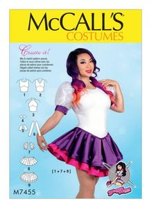 McCall's M7455 Skirted leotards with mix-and-match design variations