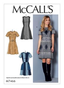 McCall's M7466 Paneled dress with yoke, and belt