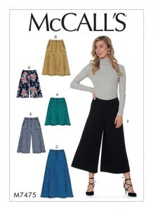 McCall's M7475 Flared skirts, shorts and culottes
