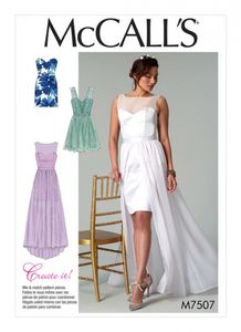 McCall's M7507 Mix-and-match sweetheart dresses