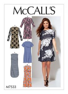 McCall's M7533 Fitted, sheath dress